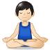 🧘🏻♂️ man in lotus position: light skin tone Emoji on Samsung Platform