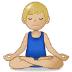 🧘🏼♂️ man in lotus position: medium-light skin tone Emoji on Samsung Platform