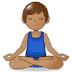 🧘🏽♂️ man in lotus position: medium skin tone Emoji on Samsung Platform