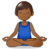 🧘🏾‍♂️ man in lotus position: medium-dark skin tone Emoji on Samsung Platform
