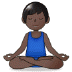🧘🏿‍♂️ man in lotus position: dark skin tone Emoji on Samsung Platform