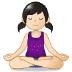 🧘🏻♀️ woman in lotus position: light skin tone Emoji on Samsung Platform