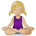 🧘🏼‍♀️ woman in lotus position: medium-light skin tone Emoji on Samsung Platform