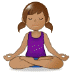 🧘🏽‍♀️ woman in lotus position: medium skin tone Emoji on Samsung Platform