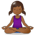 🧘🏾♀️ woman in lotus position: medium-dark skin tone Emoji on Samsung Platform