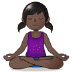 🧘🏿‍♀️ woman in lotus position: dark skin tone Emoji on Samsung Platform