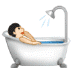 🛀🏻 person taking bath: light skin tone Emoji on Samsung Platform