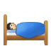 🛌🏻 person in bed: light skin tone Emoji on Samsung Platform