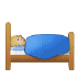 🛌🏼 person in bed: medium-light skin tone Emoji on Samsung Platform