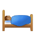 🛌🏽 person in bed: medium skin tone Emoji on Samsung Platform