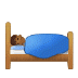 🛌🏾 person in bed: medium-dark skin tone Emoji on Samsung Platform