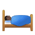 🛌🏿 person in bed: dark skin tone Emoji on Samsung Platform