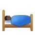 🛌🏿 Dark Skin Tone Person In Bed Emoji on Samsung Platform
