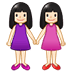 👭🏻 women holding hands: light skin tone Emoji on Samsung Platform