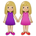 👭🏼 women holding hands: medium-light skin tone Emoji on Samsung Platform