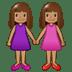 👭🏽 women holding hands: medium skin tone Emoji on Samsung Platform