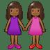 👭🏾 women holding hands: medium-dark skin tone Emoji on Samsung Platform