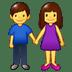 👫 woman and man holding hands Emoji on Samsung Platform