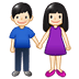 👫🏻 woman and man holding hands: light skin tone Emoji on Samsung Platform