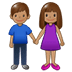 👫🏽 woman and man holding hands: medium skin tone Emoji on Samsung Platform
