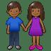 👫🏾 woman and man holding hands: medium-dark skin tone Emoji on Samsung Platform