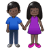 👫🏿 woman and man holding hands: dark skin tone Emoji on Samsung Platform