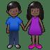 👫🏿 Dark Skin Tone Woman and Man Holding Hands Emoji on Samsung Platform