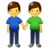 👬 men holding hands Emoji on Samsung Platform