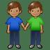 👬🏽 men holding hands: medium skin tone Emoji on Samsung Platform