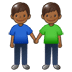 👬🏾 men holding hands: medium-dark skin tone Emoji on Samsung Platform