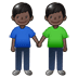 👬🏿 Dark Skin Tone Men Holding Hands Emoji on Samsung Platform