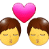 👨‍❤️‍💋‍👨 kiss: man, man Emoji on Samsung Platform