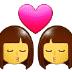 👩❤️💋👩 kiss: woman, woman Emoji on Samsung Platform