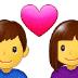 👩❤️👨 couple with heart: woman, man Emoji on Samsung Platform