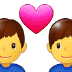 👨‍❤️‍👨 couple with heart: man, man Emoji on Samsung Platform