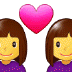 👩‍❤️‍👩 couple with heart: woman, woman Emoji on Samsung Platform