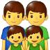 👨👨👦👦 family: man, man, boy, boy Emoji on Samsung Platform