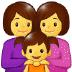 👩👩👧 family: woman, woman, girl Emoji on Samsung Platform