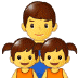👨👧👧 family: man, girl, girl Emoji on Samsung Platform
