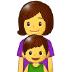 👩👦 family: woman, boy Emoji on Samsung Platform