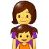 👩👧 family: woman, girl Emoji on Samsung Platform