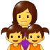 👩👧👧 family: woman, girl, girl Emoji on Samsung Platform