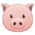 🐷 pig face Emoji on Samsung Platform
