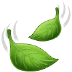 🍃 風になびく葉っぱ サムスンのプラットフォーム上の絵文字