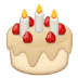 🎂 बर्थडे केक सैमसंग प्लेटफ़ॉर्म पर इमोजी