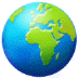 🌍 globe showing Europe-Africa Emoji on Samsung Platform