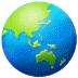 🌏 globe showing Asia-Australia Emoji on Samsung Platform