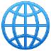 🌐 globe with meridians Emoji on Samsung Platform