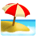 🏖️ beach with umbrella Emoji on Samsung Platform