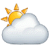 ⛅ sun behind cloud Emoji on Samsung Platform